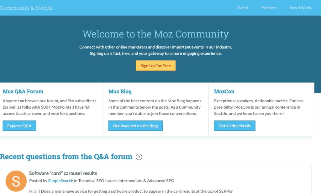 moz community