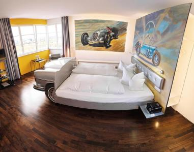 Tower Suite at V8 Hotel in Stuttgart.