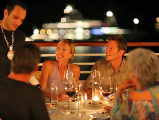 dining al fresco on seadream yacht