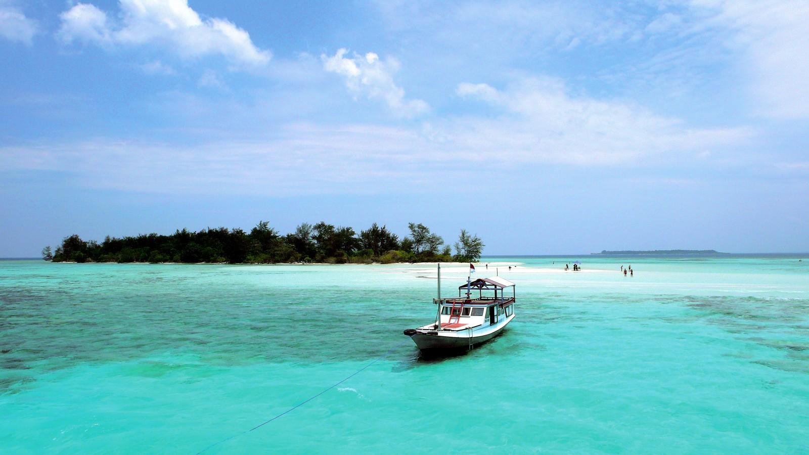 One of the many smaill islands around Kura Kura Resort, Indonesia