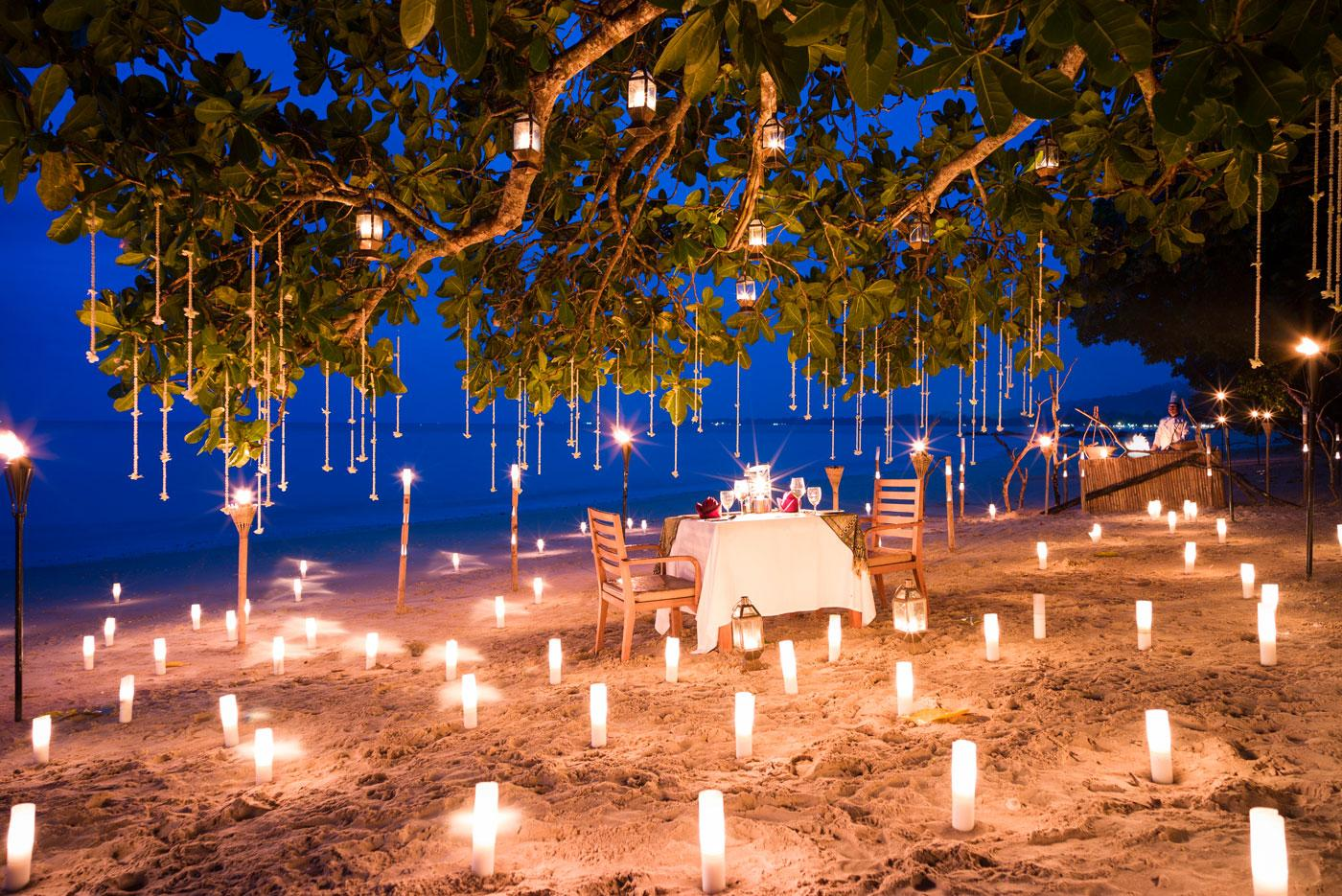 The Beach at The Sarojin is set up for a private barbecue.