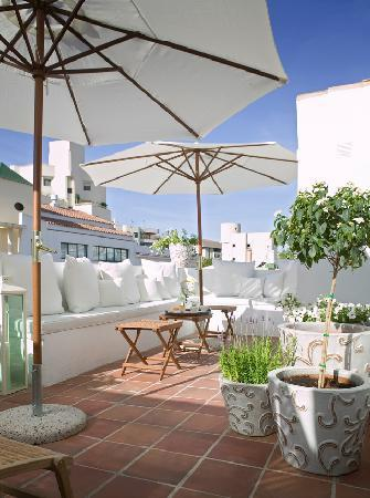 The terrace at Townhouse Marbella.