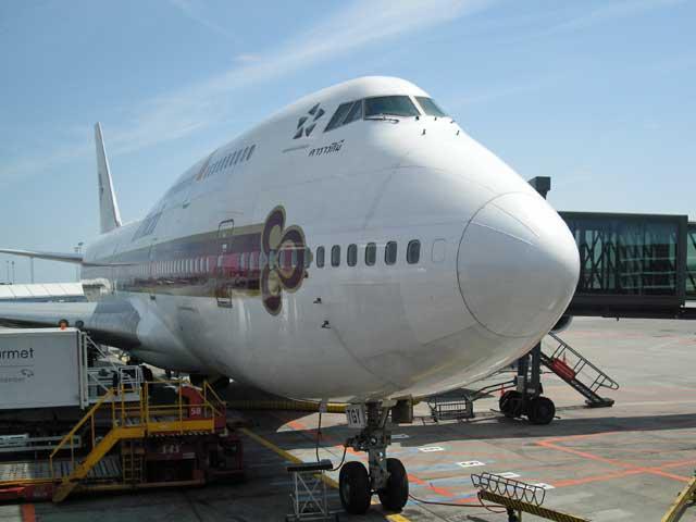 Boeing 747 from Thai Airways.