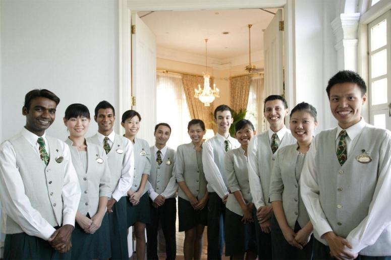 Raffles staff epitomizes luxury.
