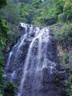 Seven Wells waterfall on Langkawi, Malaysia.