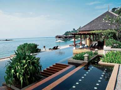 Lap pool at Spa Villag, Pangkor Laut Resort.