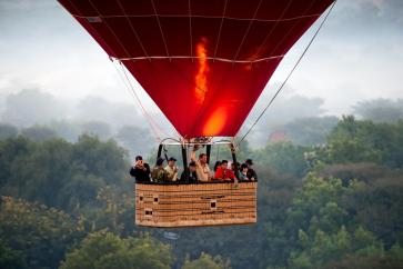 Ballooning over Bagan is a great experience.