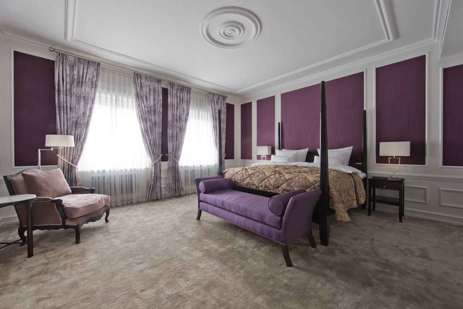 Sleeping quarters in Thorvaldsen suite at D´Angleterre Hotel in Copenhagen.