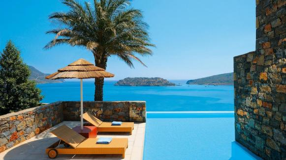 This is the pool of a Deluxe Suite. at Blue Palace, Crete