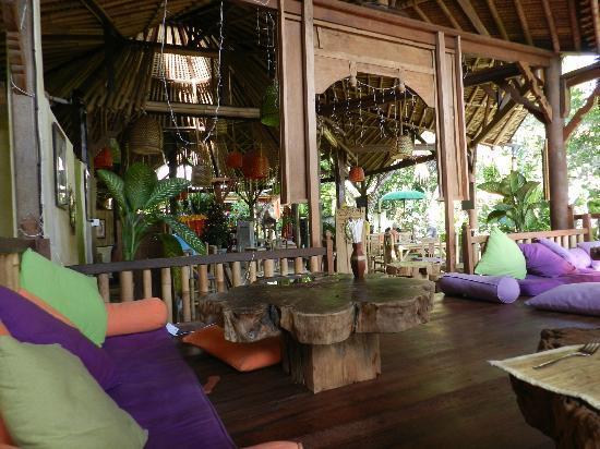 Swastika Cottages organic restaurant in Ubud, Bali