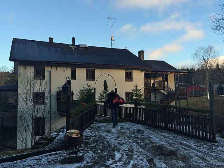 Main building at Camp Sävenfors in Sweden.