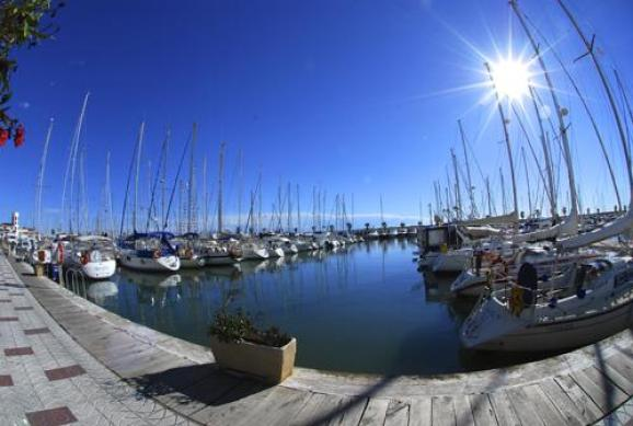 Sitges yacht harbour is a great place to start your RIB-safari.
