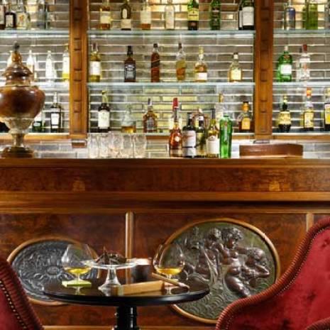 Cigar lounge at Villa Cora in Florence.