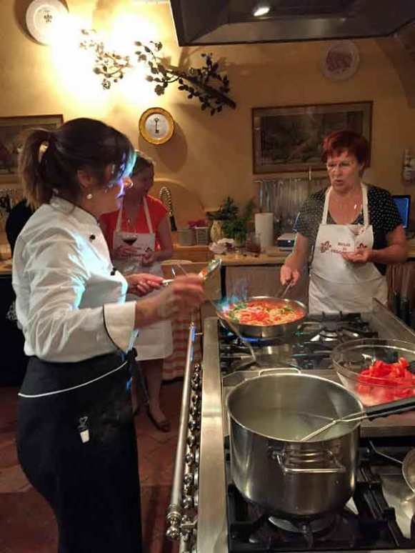 Cooking class with Silivia Barrachi at Il Falconiere.