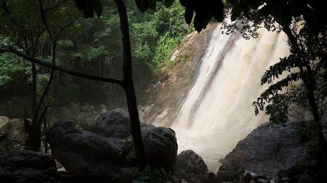 Koh Samui waterfall.