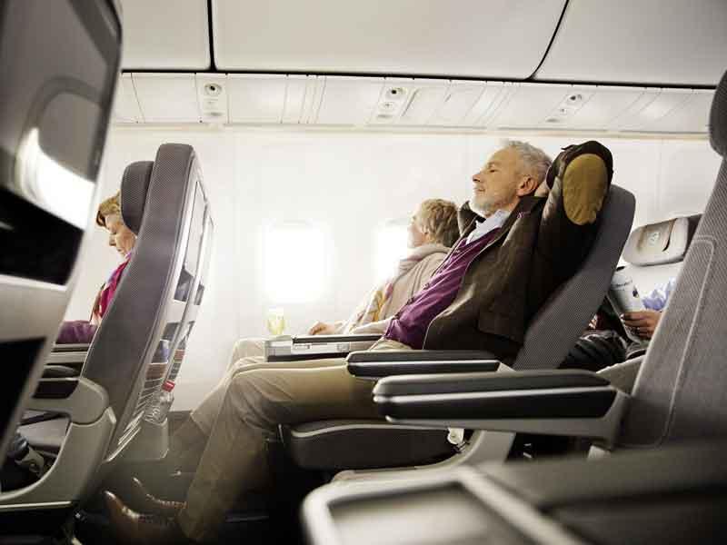 Lufthansa Premium Economy is spacious and comfortable.