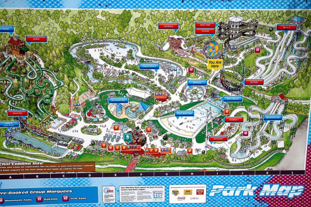 Wet 'n' Wild Park Map