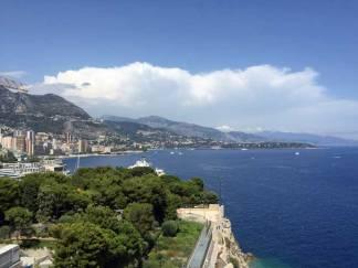 The magnificient view from Institute Oceanographique in Monaco.