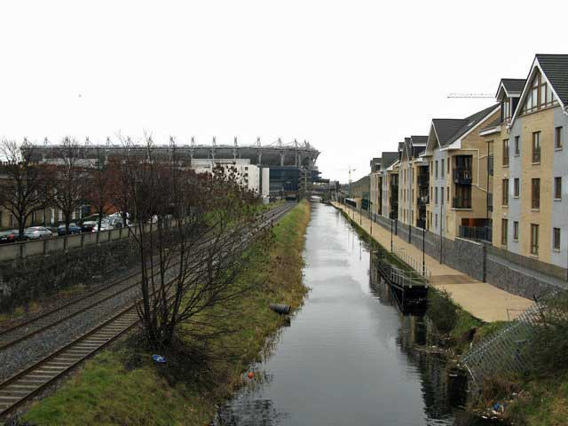 Royal Canal in Dublin.