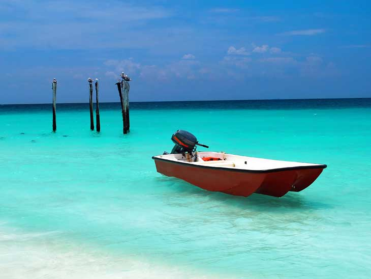 Aruba offers crystal clear waters and white sandy beaches.