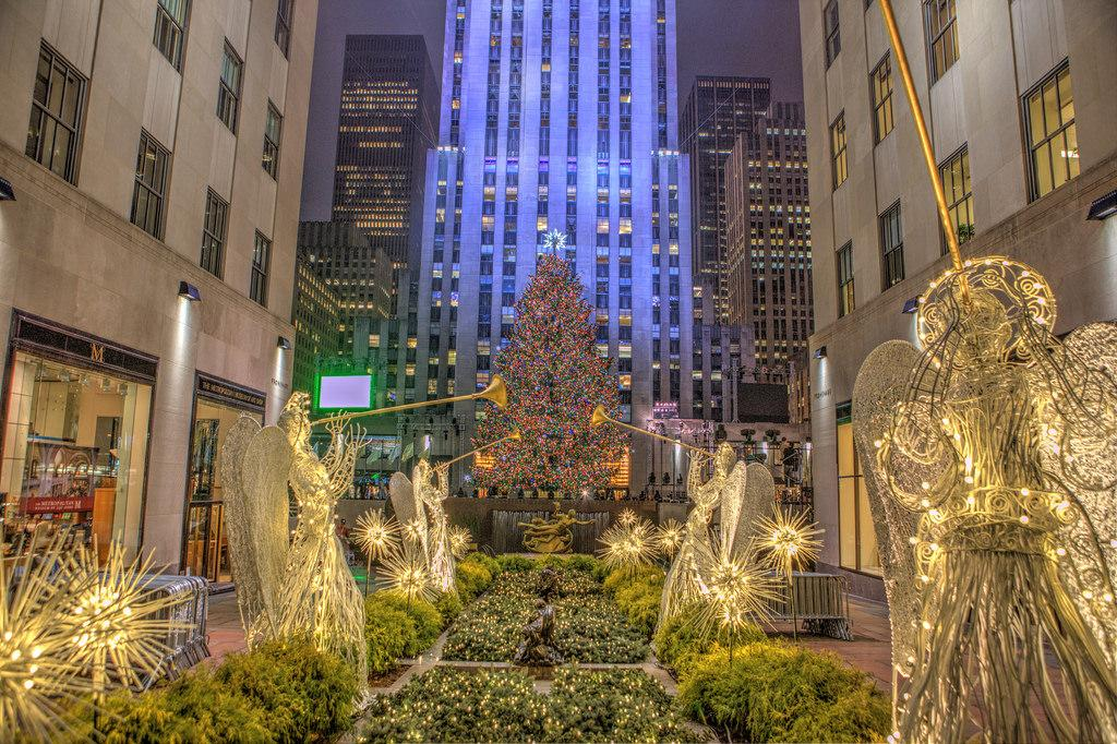 Rockefeller Center in New York in winter.
