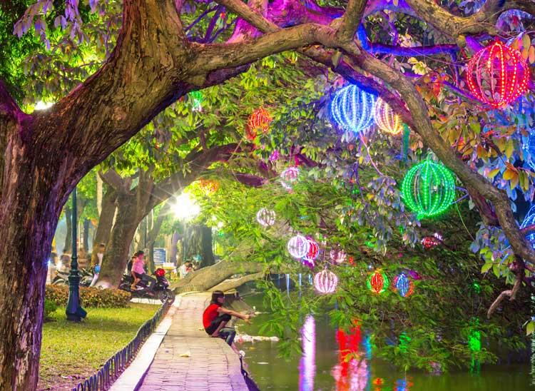 Hanoi City Park, Vietnam.
