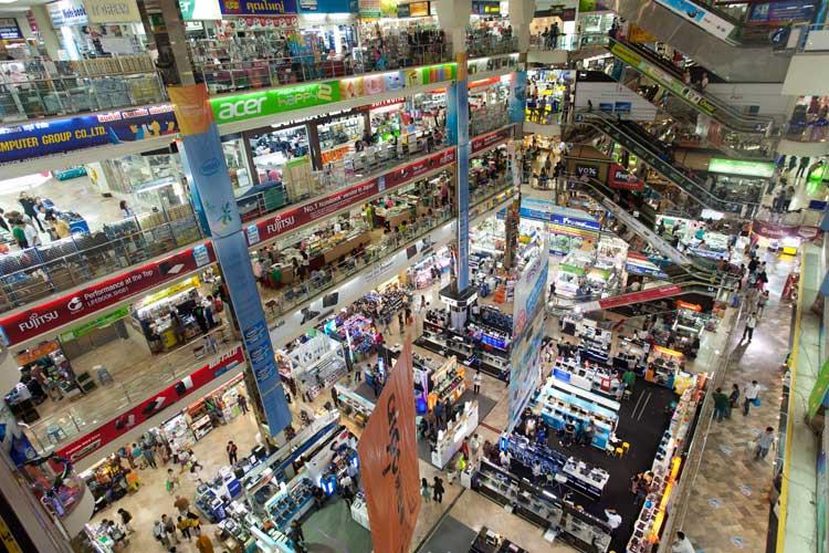 Interior of Pantip Plaza, Bangkok.