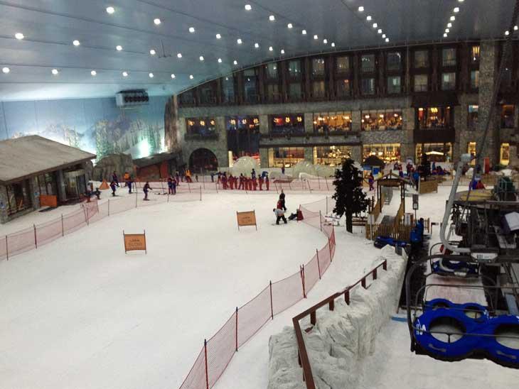 Indoor skiing in Dubai.