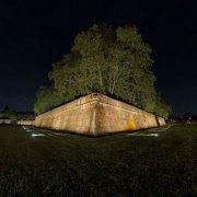 immagine panoramica a 360 gradi delle mura di lucca baluardo cairoli