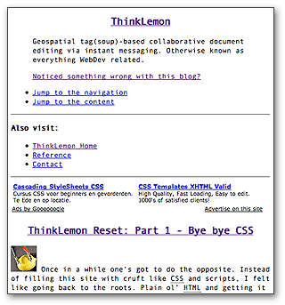 ThinkLemon Reset Part 1 - Text-only