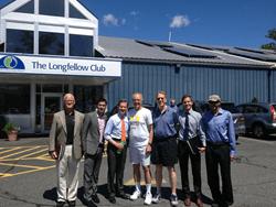 Craig Huntley, Solect Energy, Dinesh Wadhwani, ThinkLite, MA State Treasurer Steve Grossman, Laury Hammel and Myke Farricker, The Longfellow Clubs, Michael Green and Quinton Zondervan, CALC.