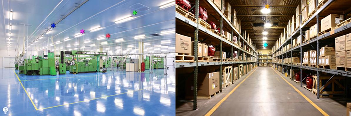 Industrial Lighting Features