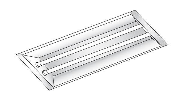 1X4 LED Tube Light Retrofit Kit