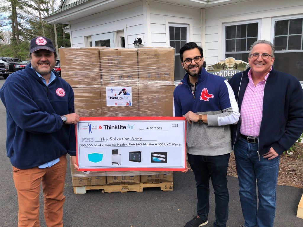ThinkLite Air teams up with The David Ortiz Children's Fund to donate clean air supplies to The Salvation Army Summer camps.