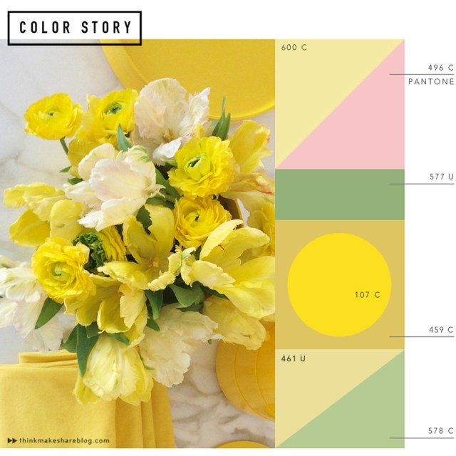 A color palette inspired by spring florals