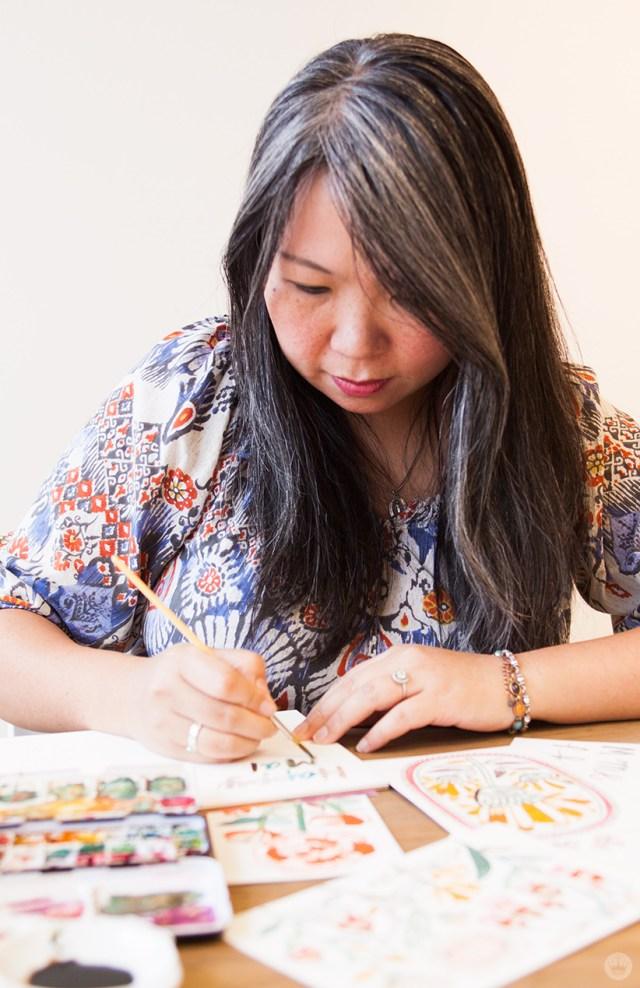 Artist Spotlight Flora Chang | thinkmakeshareblog.com