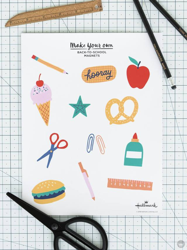 Back-to-School magnets supplies | thinkmakeshareblog.com
