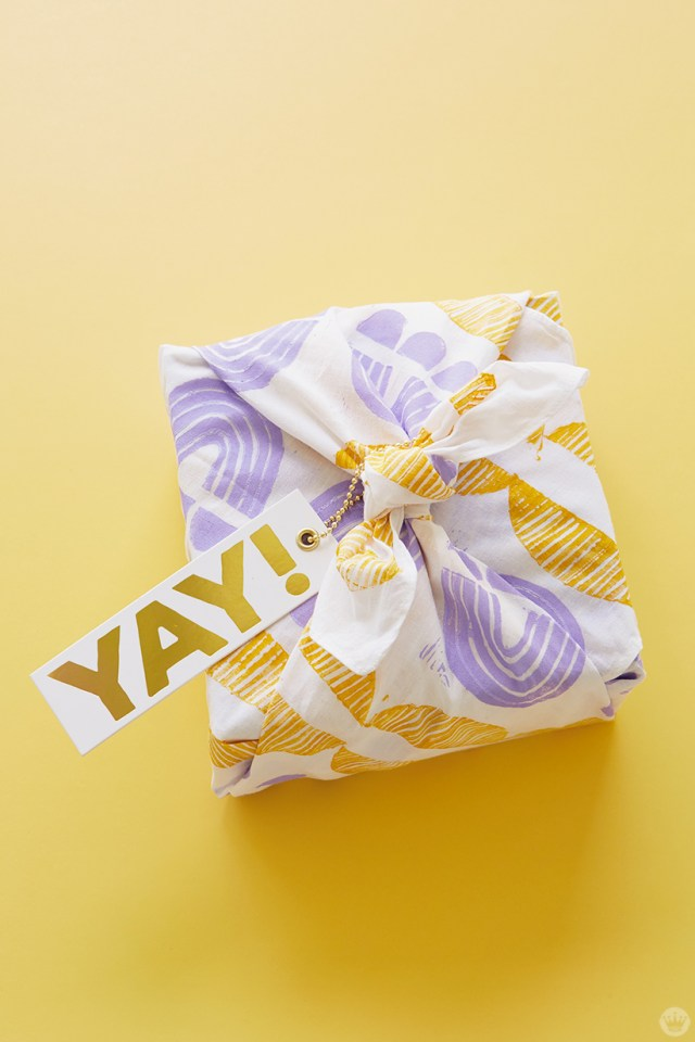 Gift wrapped in DIY bandana