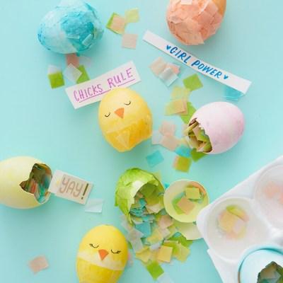 Chicks Rule Party Egg Cascarones | thinkmakeshareblog.com