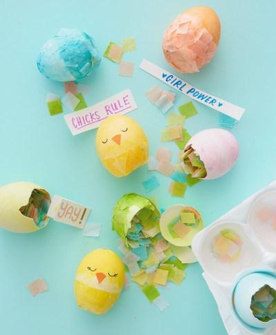 Chicks Rule Party Egg Cascarones   thinkmakeshareblog.com