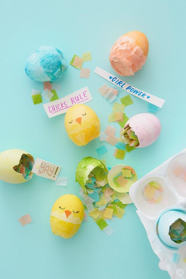 Chicks Rule Party DIY Cascarones | thinkmakeshareblog.com