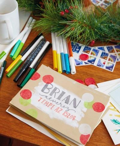 Christmas Card Sending Challenge | thinkmakeshareblog.com