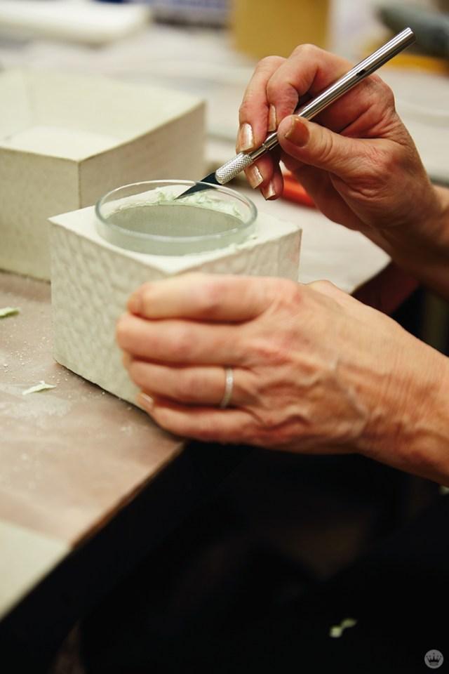 Finishing a DIY concrete vase
