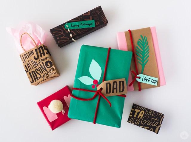 Creative Gift Wrap Ideas | thinkmakeshareblog.com