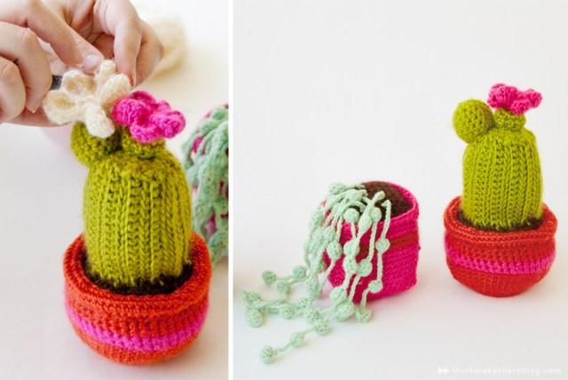 Crochet cacti macrame by Hallmark designer Hannah Carey   thinkmakeshareblog.com