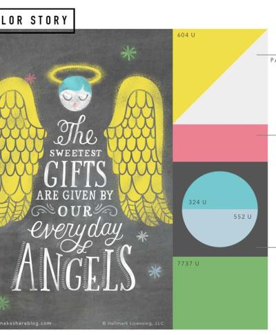 Cheerful holiday color palette | thinkmakeshareblog.com