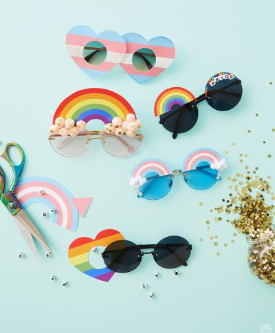 DIY Pride Sunglasses | thinkmakeshareblog.com