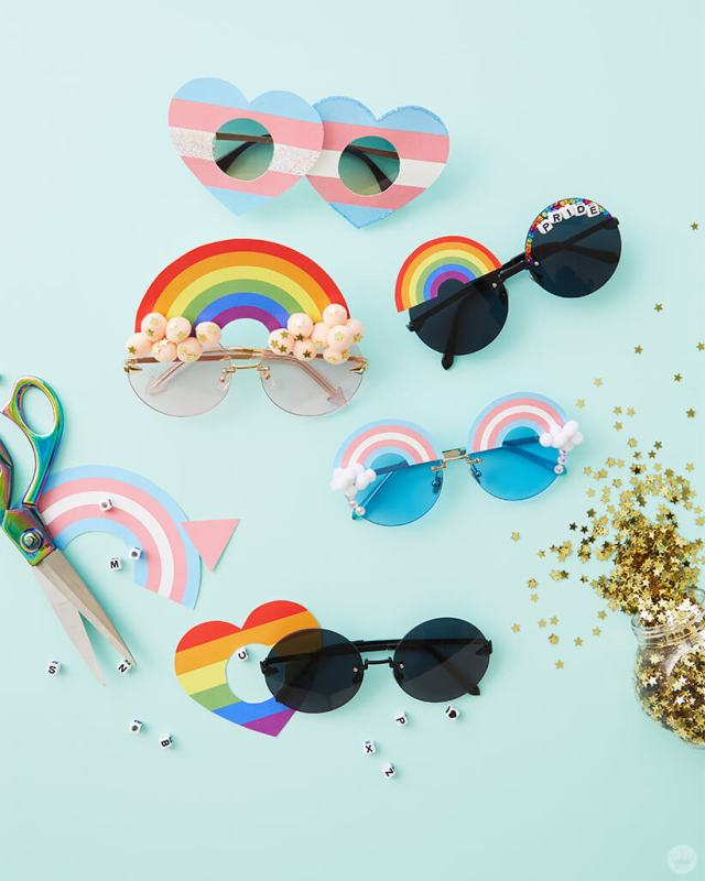 DIY Pride Sunglasses | thinkmakeshareblog.com