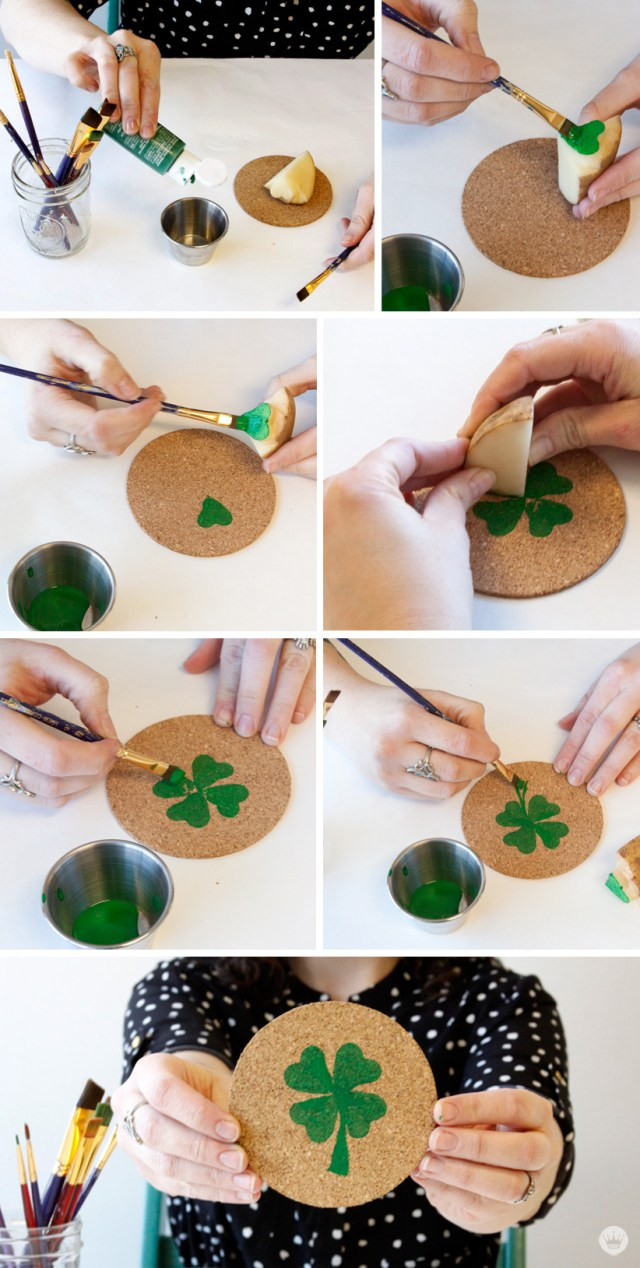 DIY St.-Patty's Day Coasters | thinkmakeshareblog.com