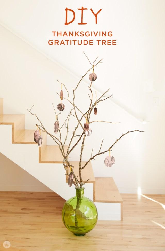DIY Thanksgiving Gratitude Tree | thinkmakeshareblog.com